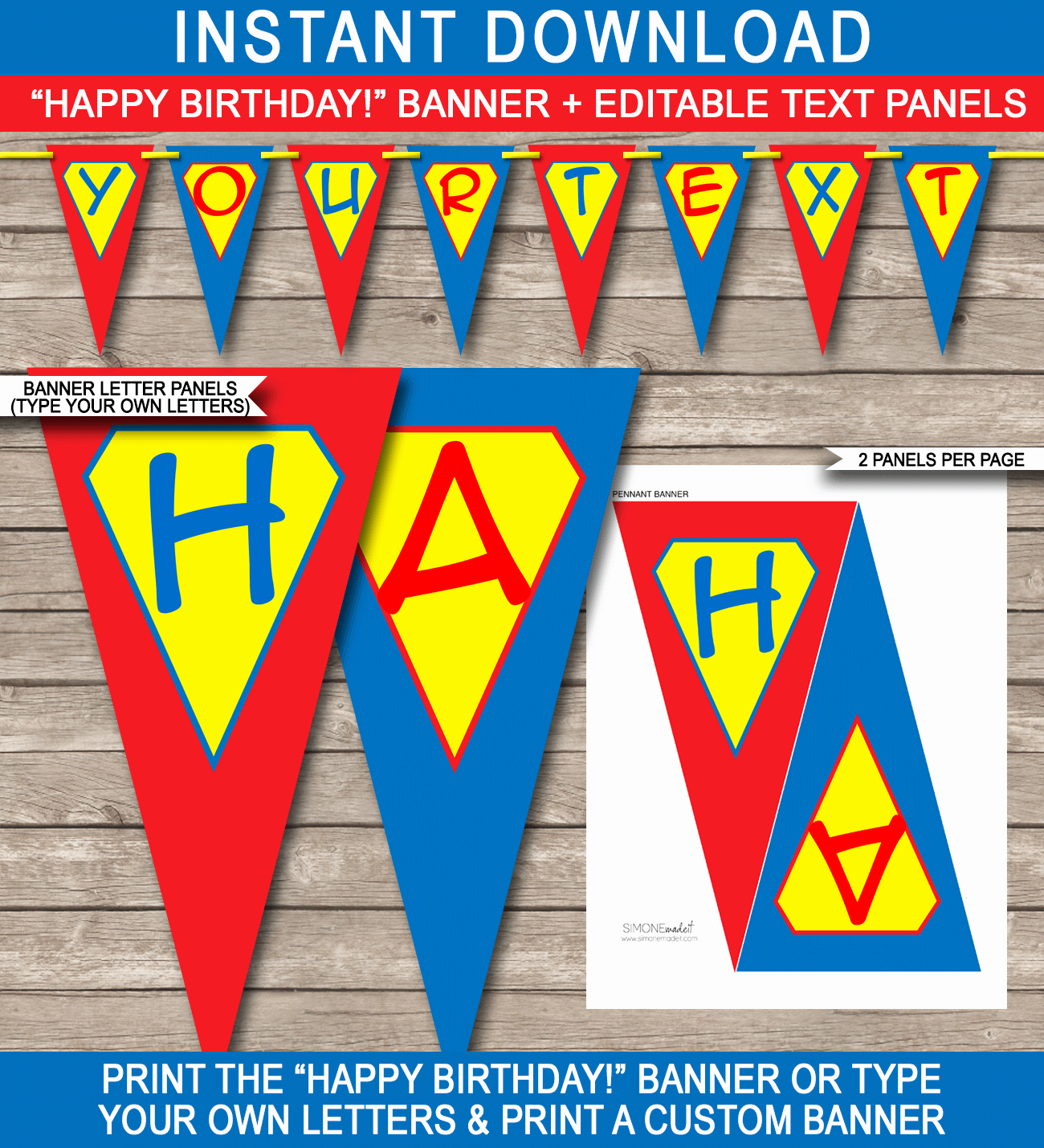 Happy Birthday Banner Template Unique Superhero Party Banner Template