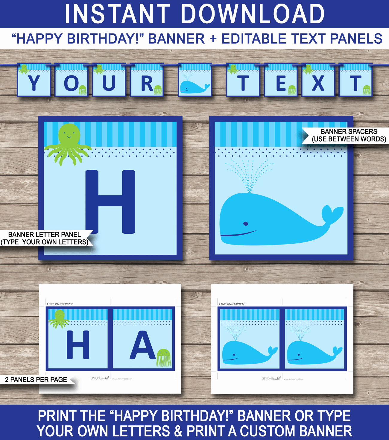 Happy Birthday Banner Template Unique Under the Sea Party Banner Template