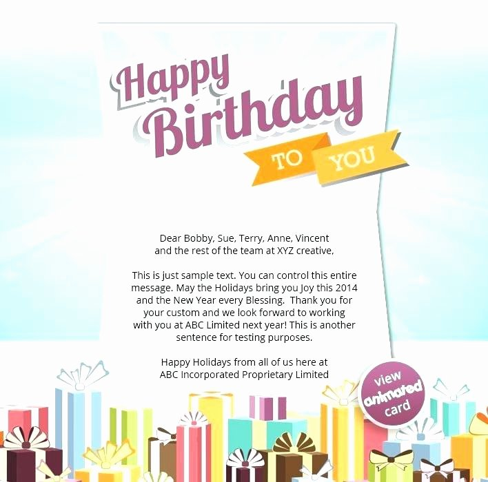 Happy Birthday Email Template Beautiful Corporate Birthday Email Template – Vitaminacfo