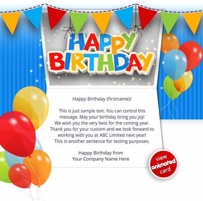 Happy Birthday Email Template Best Of Corporate Birthday Ecards