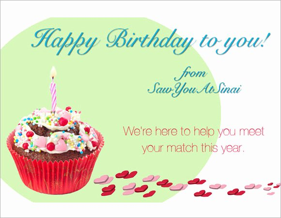 Happy Birthday Email Template Inspirational 7 Sample Happy Birthday Emails
