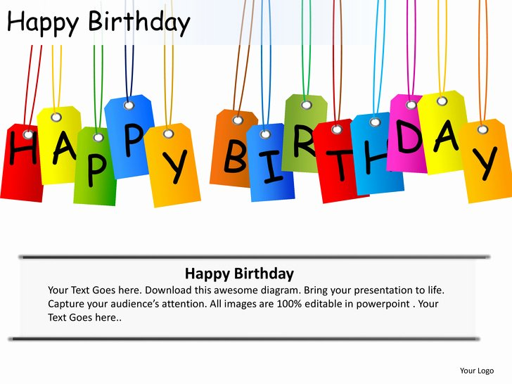 Happy Birthday Email Template New Happy Birthday Celebrations Cake Candles Powerpoint