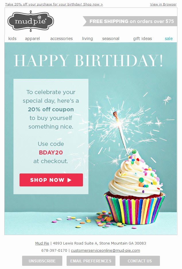 Happy Birthday Email Template New Happy Birthday Email Template to Pin On Pinterest