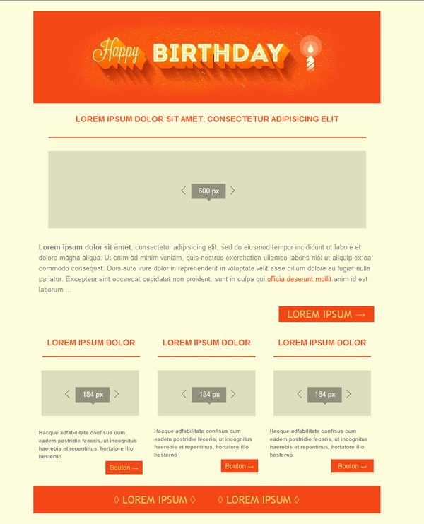Happy Birthday Email Template Unique Free Email Templates Download Design Happy Birthday