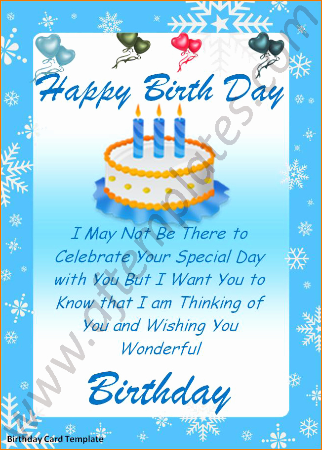 Happy Birthday Template Word Awesome 5 Word Birthday Card Template