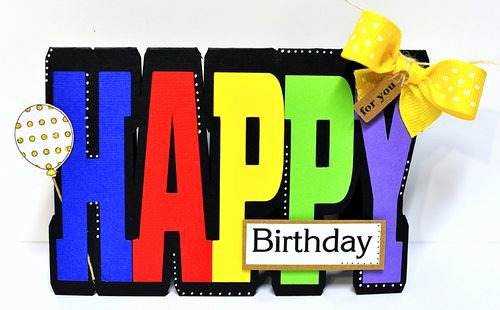 Happy Birthday Template Word Fresh the Cutting Cafe Happy Word Shaped Card Template