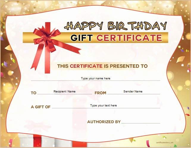 Happy Birthday Template Word Inspirational Gift Certificate Sample Templates For