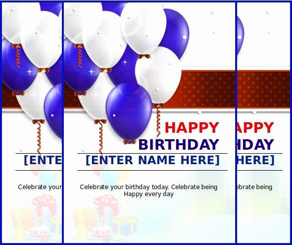 Happy Birthday Template Word Inspirational Happy Birthday Template Word