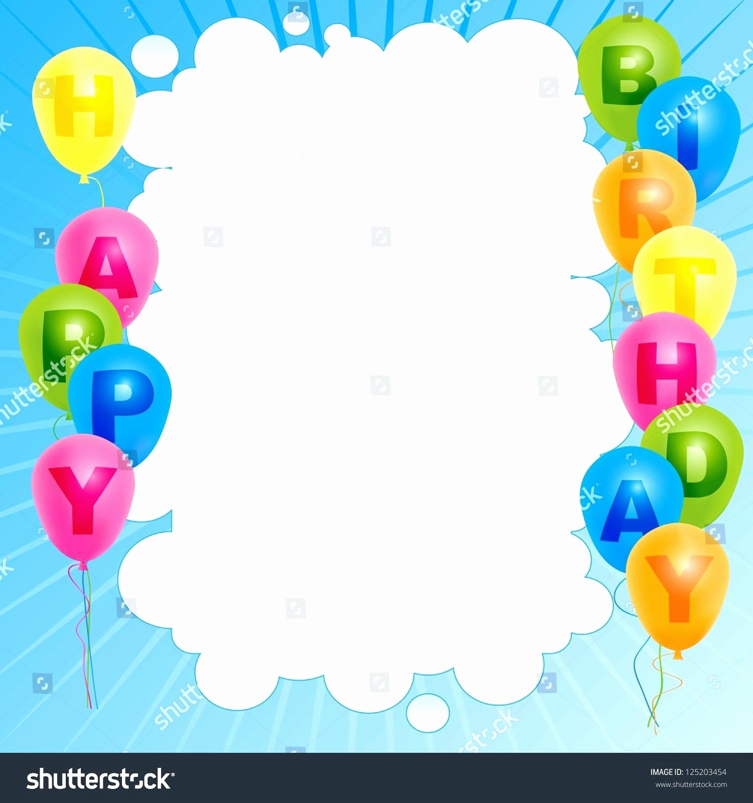 Happy Birthday Template Word Inspirational Template Happy Birthday Card Template Word