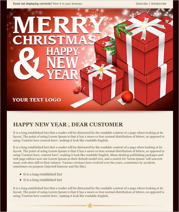 Happy New Year Email Template Best Of New Year Email Template – Merry Christmas and Happy New