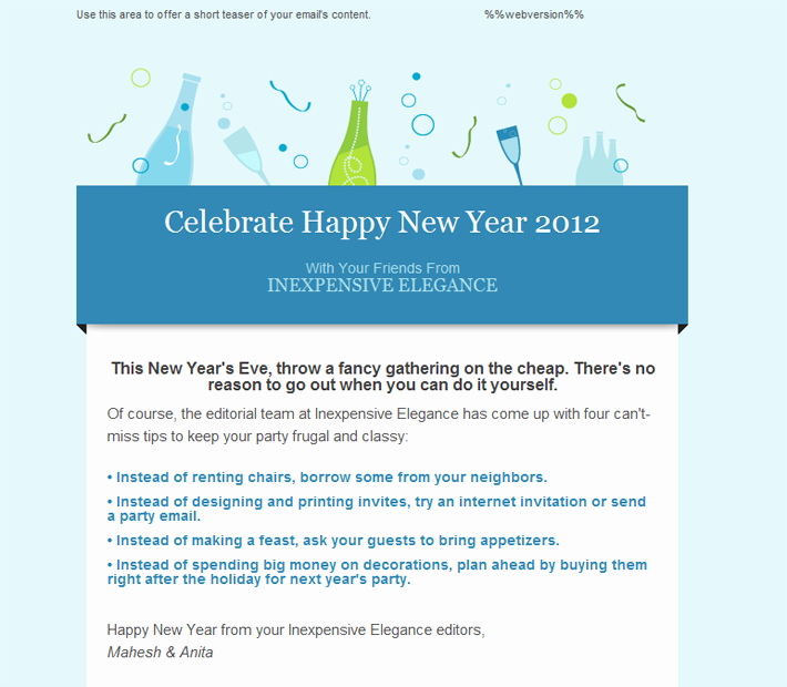 Happy New Year Email Template Inspirational Happy Holidays Email Templates for New Year 2013