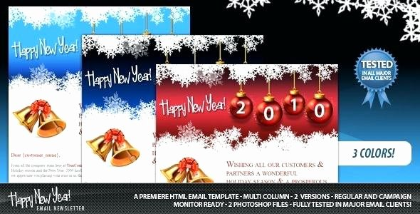 Happy New Year Email Template Inspirational Happy New Year Email Template Letter Sample Co Free