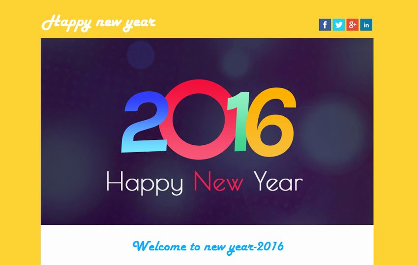 Happy New Year Email Template Lovely Happy New Year Email Template – Merry Christmas & Happy