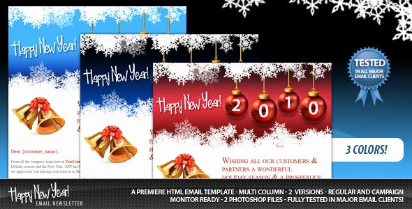 Happy New Year Email Template New 20 Best New Year Newsletter Templates 2014 Designmaz