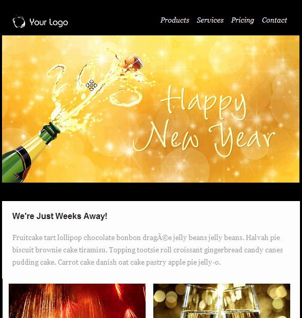 Happy New Year Email Template Unique Happy New Year Champagne Email Template Free Group Email