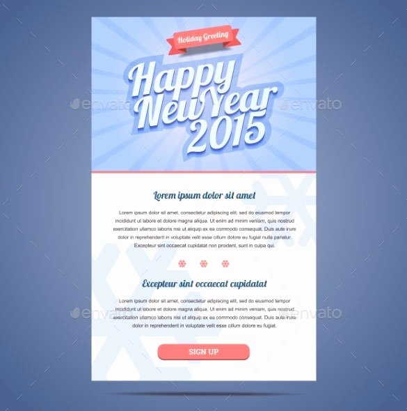 Happy New Years Email Template Awesome 14 New Year Email Templates – Free Psd PHP HTML Css