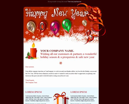 Happy New Years Email Template Awesome 17 Beautifully Designed Christmas Email Templates for