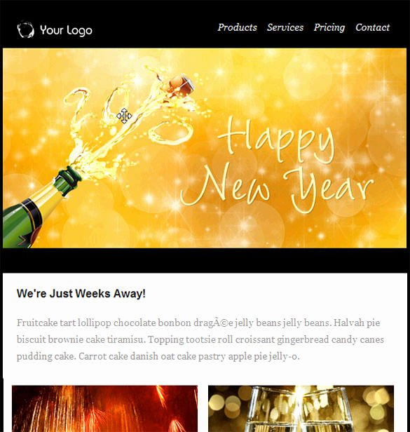 Happy New Years Email Template Awesome 6 Happy New Year Email Templates Website Wordpress Blog