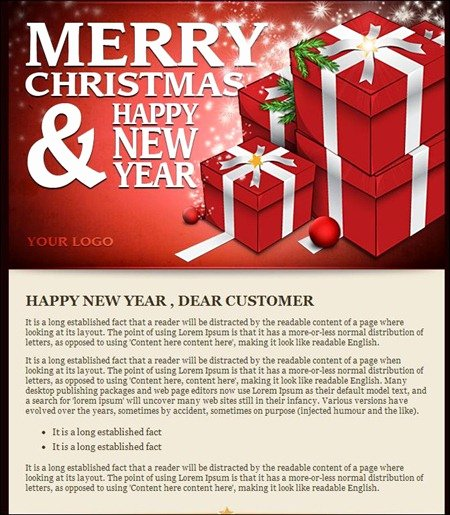 Happy New Years Email Template Awesome Happy New Year 2016 Email Template Business Greetings