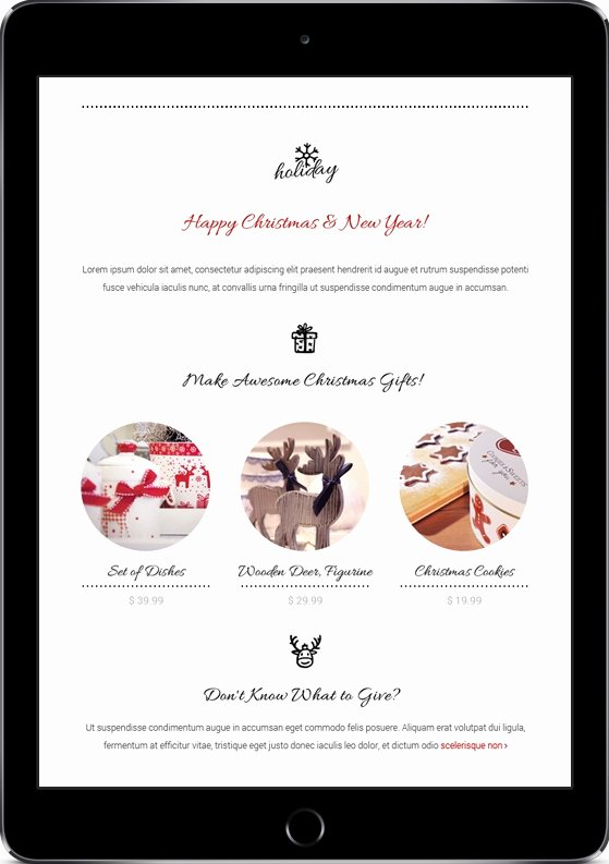 Happy New Years Email Template Beautiful Christmas Email Templates for the Up Ing Holiday Mailing