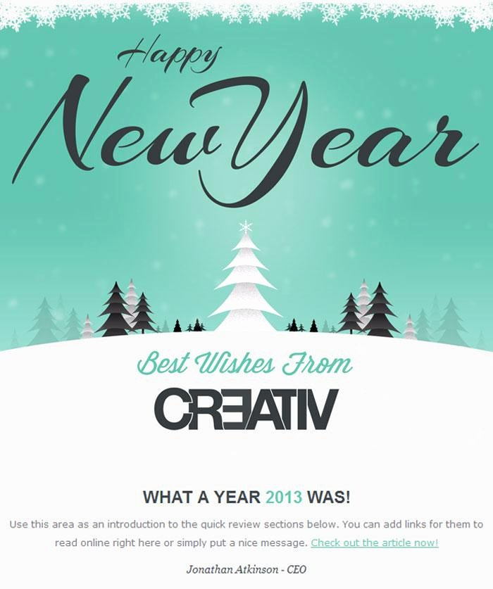 Happy New Years Email Template Beautiful Download New Year Email Template for Free Tidytemplates
