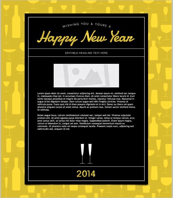 Happy New Years Email Template Best Of 6 Happy New Year Email Templates Website Wordpress Blog