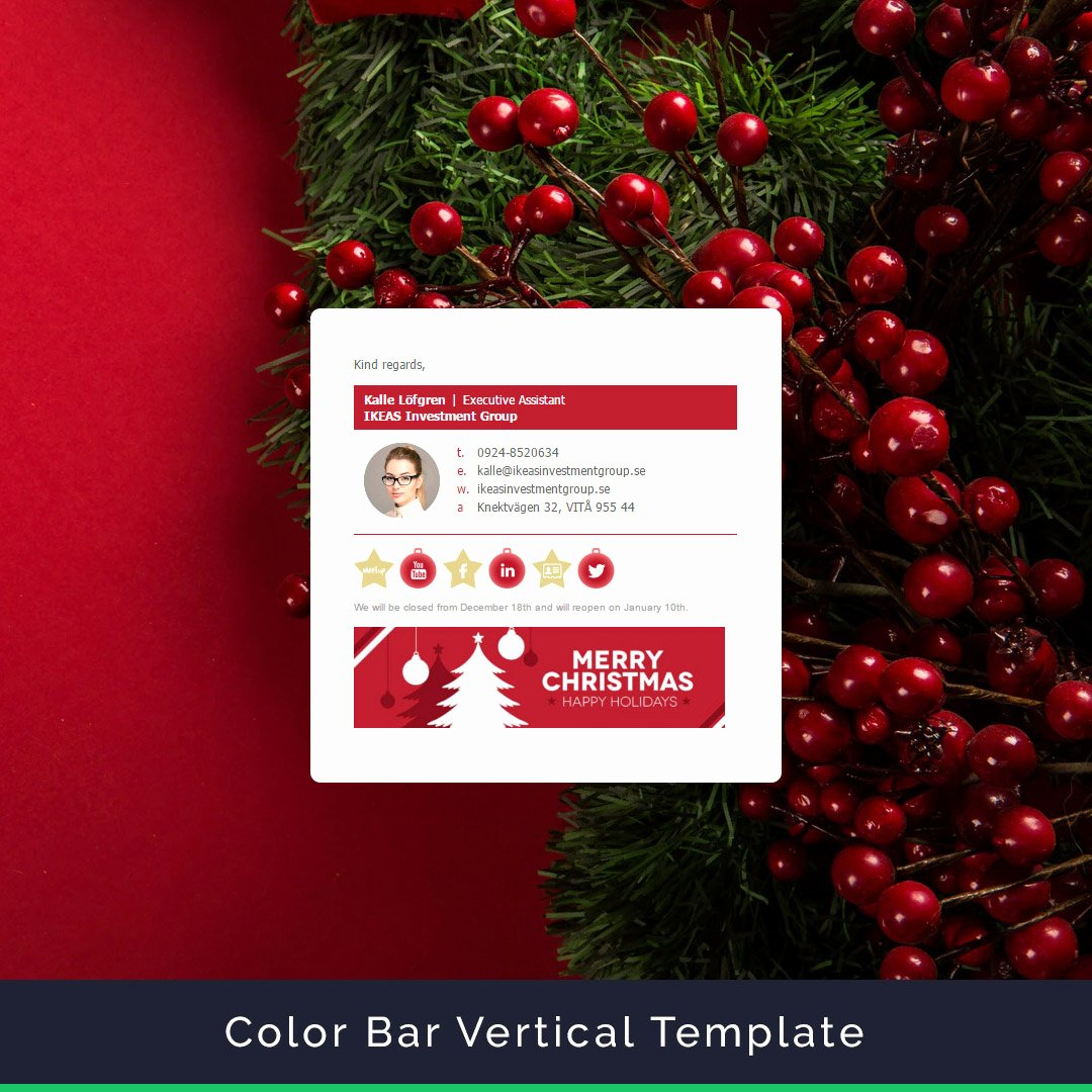 Happy New Years Email Template Best Of Merry Christmas and Happy New Year Email Signature with
