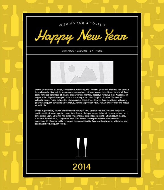 Happy New Years Email Template Best Of New Years Email Marketing Templates New Years Email