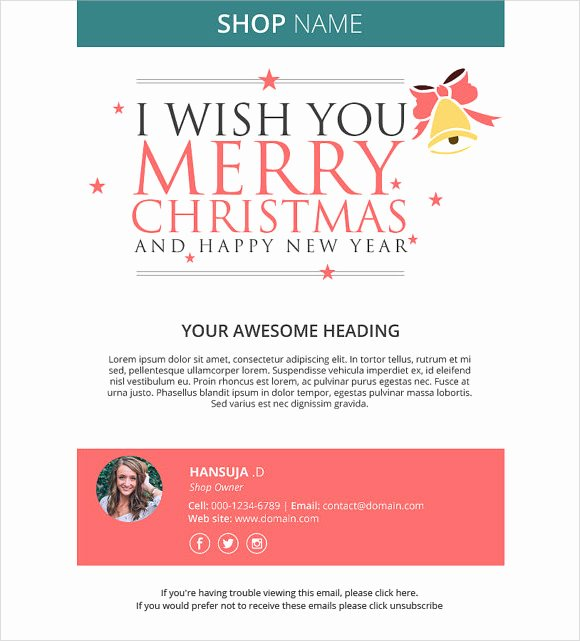 Happy New Years Email Template Elegant 12 New Year Email Templates to Download