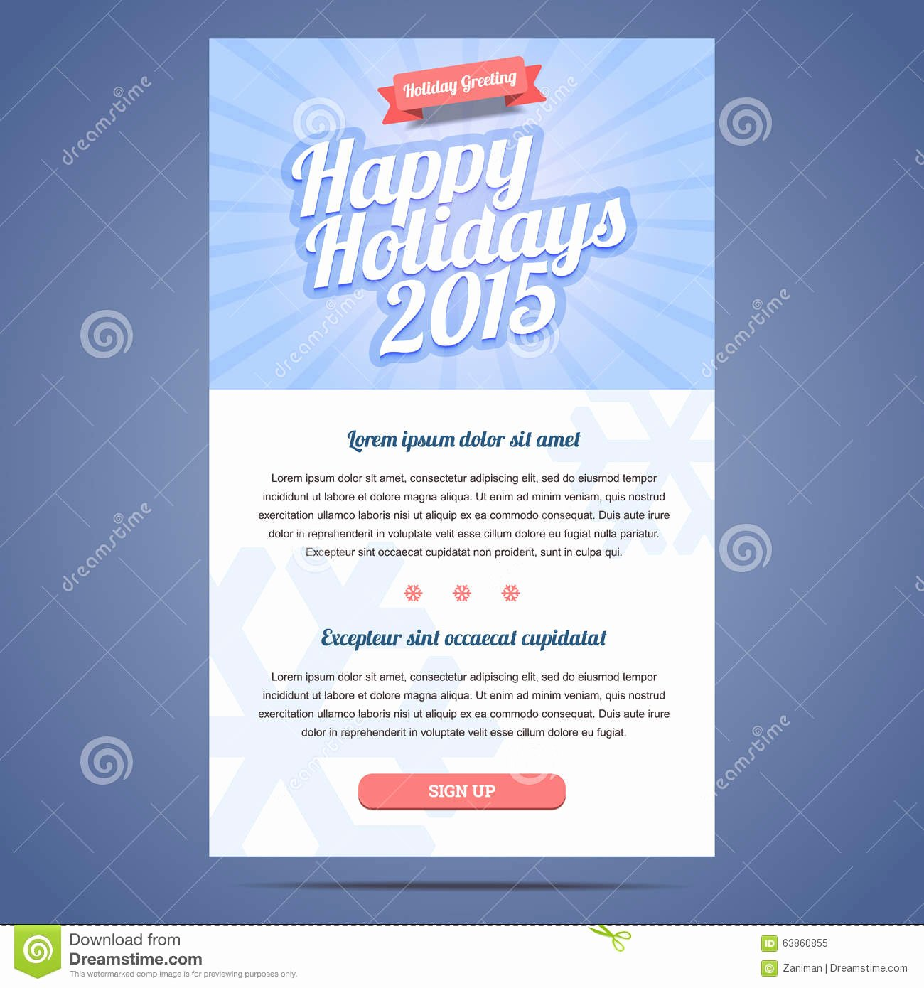 Happy New Years Email Template Elegant Email Template with Greeting Christmas and Happy Stock