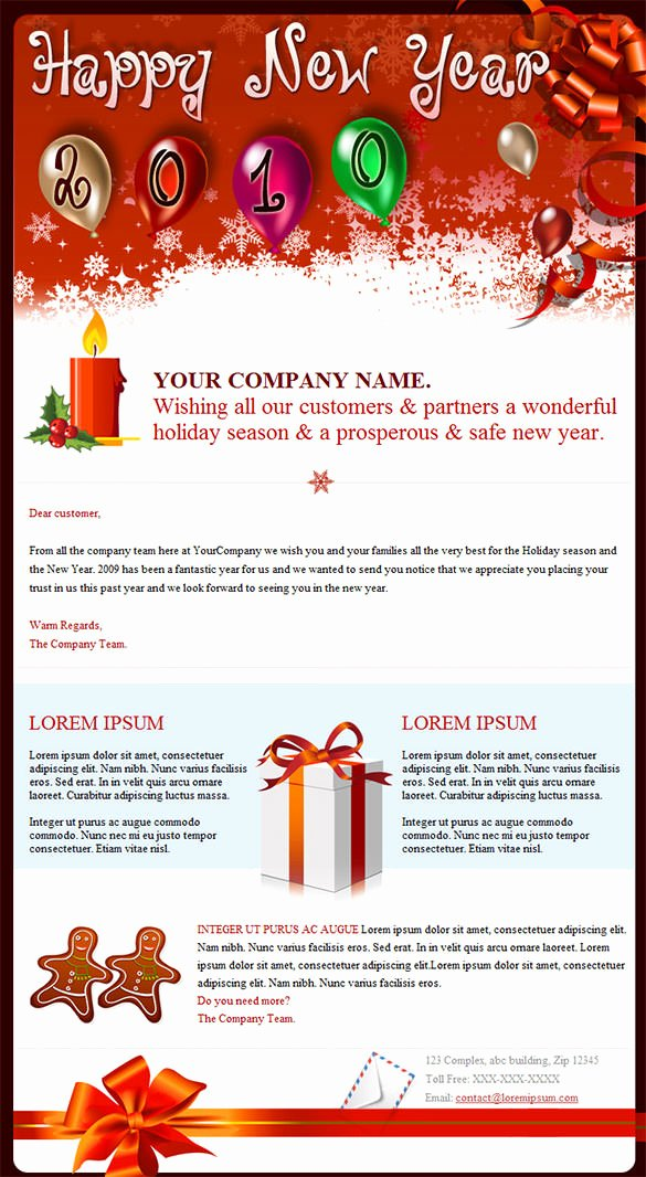 Happy New Years Email Template Fresh 14 New Year Email Templates – Free Psd PHP HTML Css