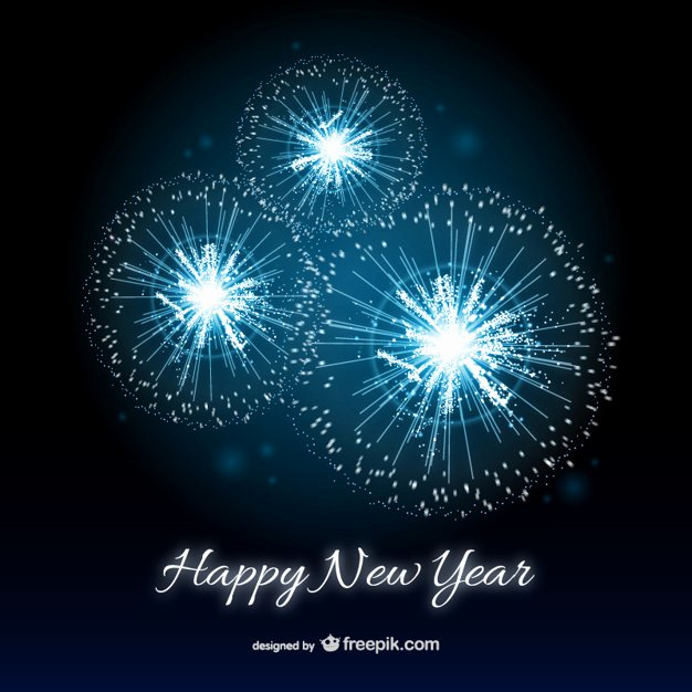 Happy New Years Email Template Lovely Happy New Year Card with Fireworks Vector