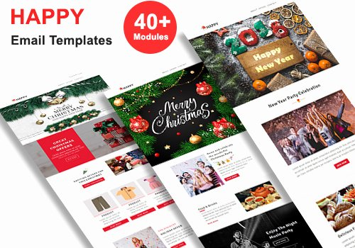 Happy New Years Email Template Lovely Happy Responsive Christmas & New Year Email Templates