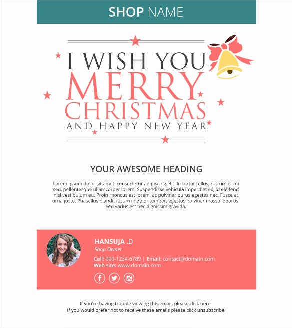 Happy New Years Email Template Luxury Holiday Email Template – 18 Free Jpg Psd format Download