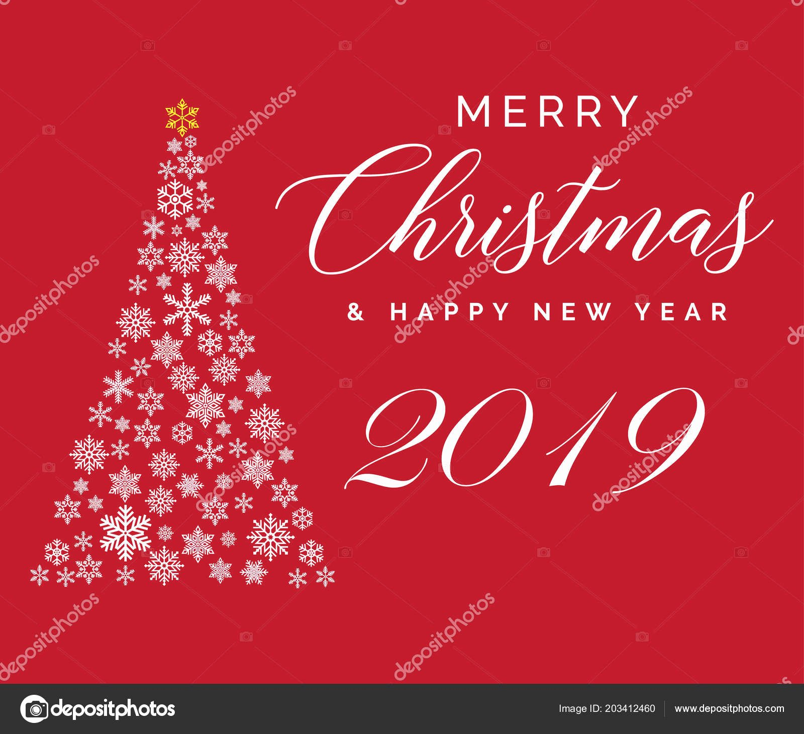 Happy New Years Email Template New Merry Christmas and Happy New Year Email with 2019