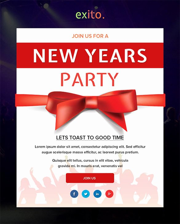 Happy New Years Email Template Unique 14 New Year Email Templates – Free Psd PHP HTML Css