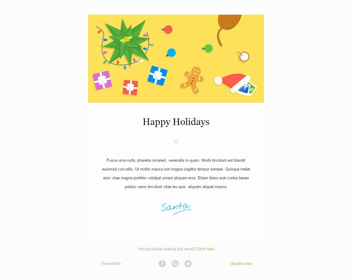Happy New Years Email Template Unique 20 Wonderful Christmas & New Year Email Templates