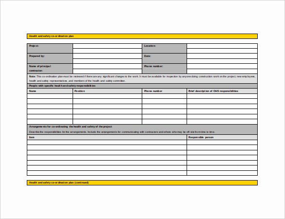 Health and Safety Plan Template Awesome 13 Health and Safety Plan Templates Free Sample