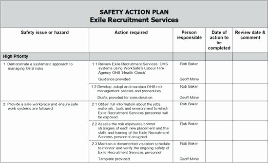 Health and Safety Plan Template Beautiful Employee Training Program Schedule Template Safety Plan