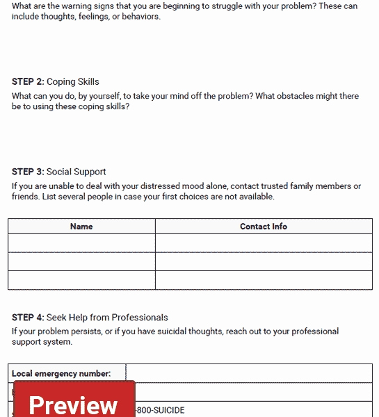 Health and Safety Plan Template Fresh Safety Plan Worksheet