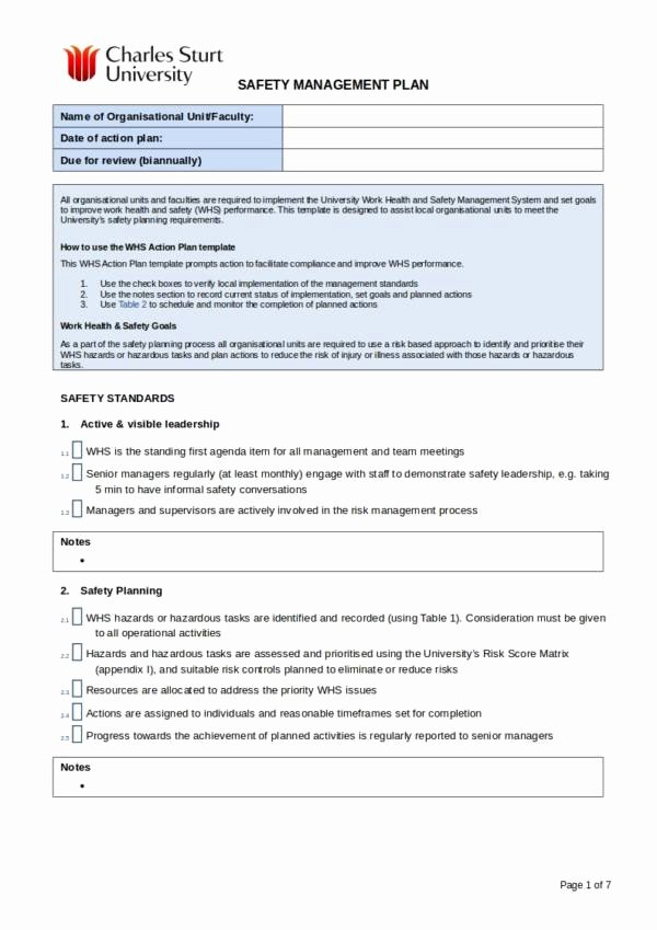 Health and Safety Plan Template Inspirational 12 Health and Safety Plan Template – Pdf Word