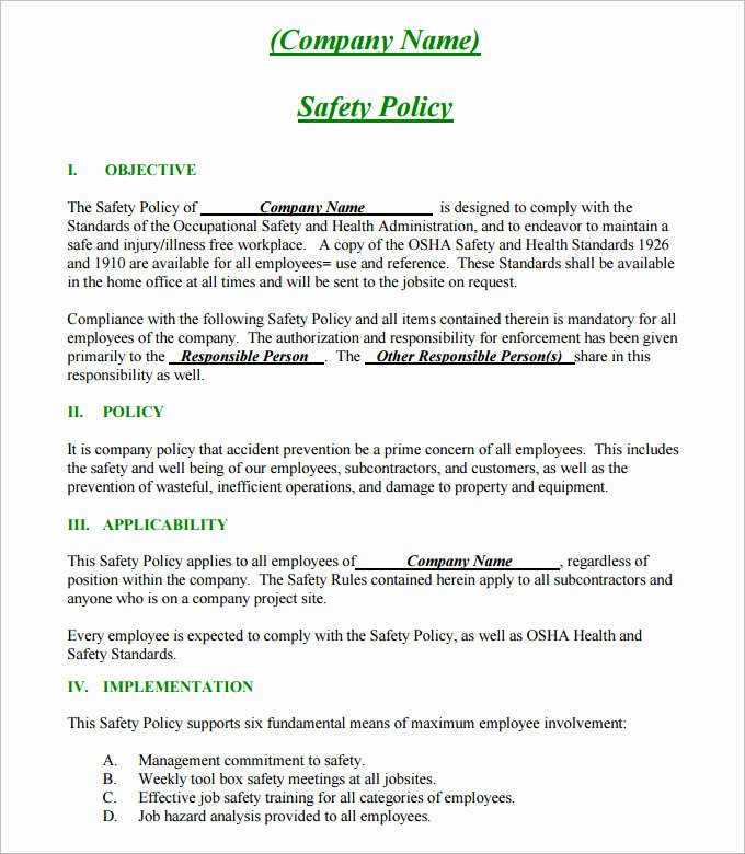 Health and Safety Plan Template Luxury Construction Safety Plan Template 17 Free Word Pdf