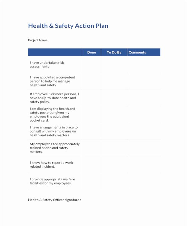 Health and Safety Plan Template Unique 12 Health and Safety Action Plan Templates Pdf Google