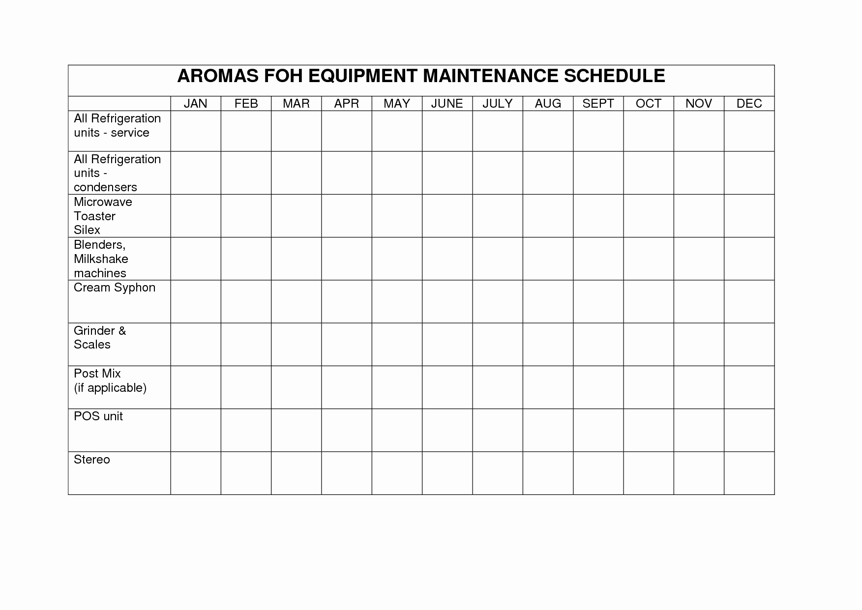 Heavy Equipment Maintenance Log Template Beautiful Heavy Equipment Maintenance Log