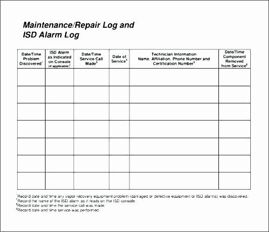 Heavy Equipment Maintenance Log Template Elegant Heavy Equipment Maintenance Schedule Template Heavy