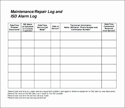 Heavy Equipment Maintenance Log Template Fresh Vehicle Maintenance Log Template Excel Luxury Awesome