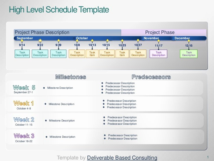 High Level Project Plan Template Beautiful Project Timeline Template Deliverable Based Consulting
