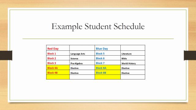 High School Schedule Template Fresh Block Scheduling for 2014 2015