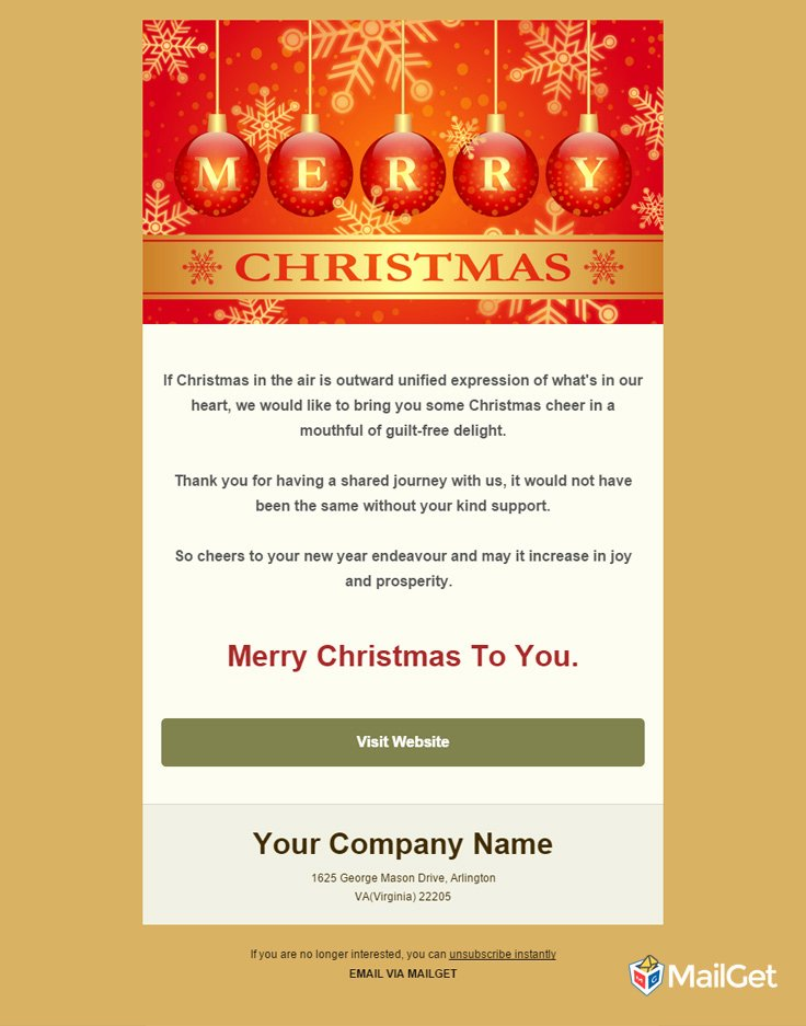 Holiday E Mail Template Awesome 10 Best Free Holiday Email Templates