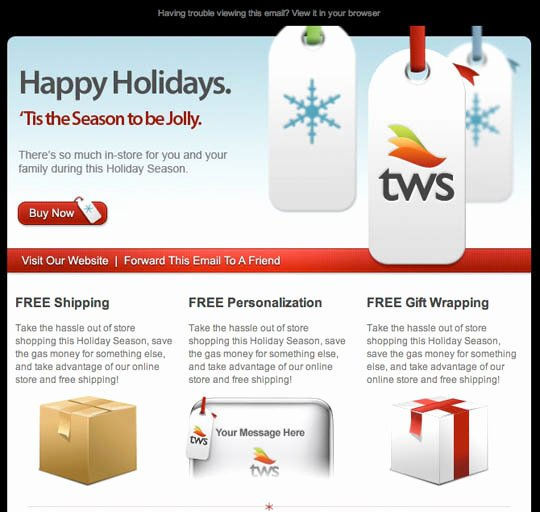Holiday E Mail Template Best Of 17 Beautifully Designed Christmas Email Templates for